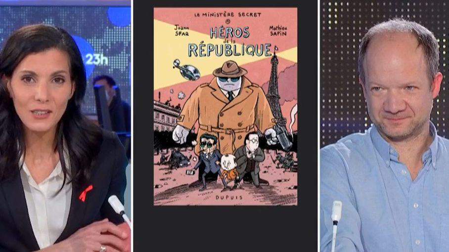 """Bande-dessinée : dans """"Le Ministère secret"""", François Hollande et Nicolas Sarkozy en super-héros au service d'une histoire """"complètement loufoque"""""""