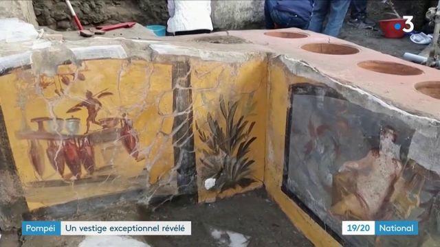 Italie : une échoppe de restauration découverte sous les cendres à Pompéi