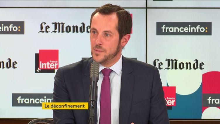 """Nicolas Bay, invité de """"Questions politiques"""" le 14 juin 2020. (FRANCEINFO / RADIO FRANCE)"""