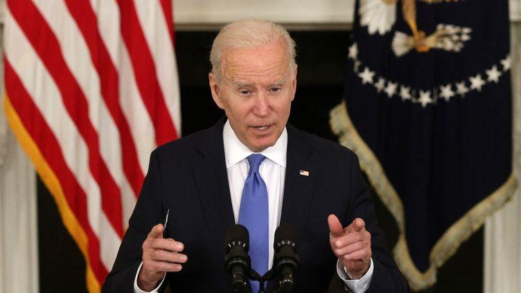 Le président américain Joe Biden,à la Maison Blanche, à Washington, D.C. (Etats-Unis), le 5 mai 2021. (ALEX WONG / GETTY IMAGES NORTH AMERICA / AFP)