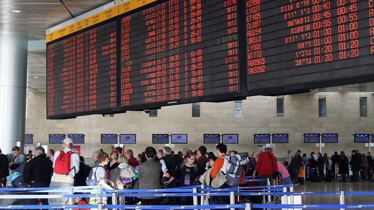Des passagers à l'aéroport Ben Gourion de Tel-Aviv (Israël), le 5 janvier 2010. (JACK GUEZ / AFP)