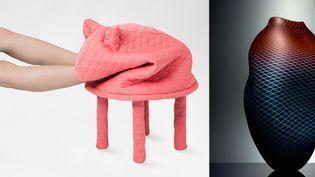 Hanna-Emilie Ernsting : Petstool (petite friture)/ vase de Liam Reeves (copyright : Sylvain Dely)