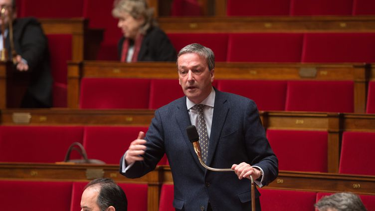 Le 30 janvier 2015,Philippe Vigier, Président du groupe UDI à l'Assemblée nationale ( WITT / SIPA)