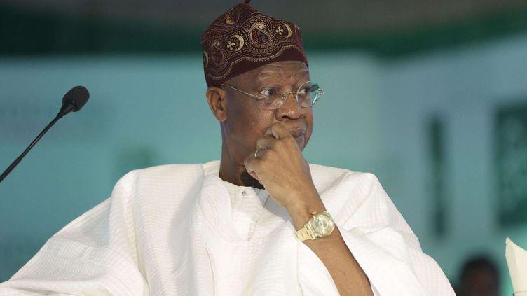 Le ministre nigérian de l'Information et de la Culture Lai Mohammed le 25 avril 2016 à Lagos, au Nigeria ( Sunday Alamba/AP/SIPA)