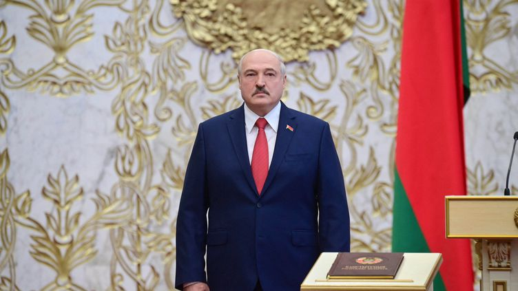 Le président Alexandre Loukachenko à Minsk, en septembre 2020. (ANDREI STASEVICH / BELTA)