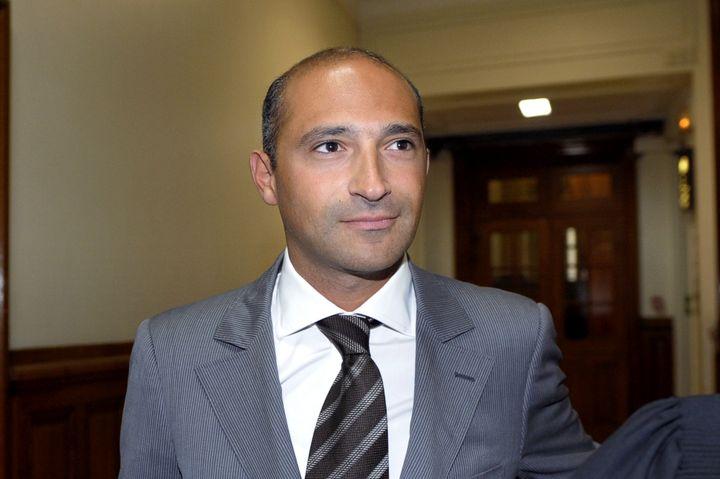 Thomas Fabius, le fils de Laurent Fabius, au tribunal de grande instance de Paris, le 1er juin 2011. (BERTRAND GUAY / AFP)