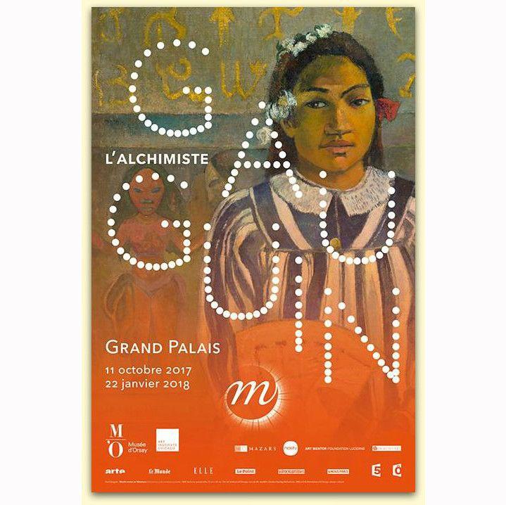 """Affiche de """"Gauguin l'alchimiste"""" au Grand Palais  (DR)"""