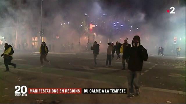 """""""Gilets jaunes"""" : de Toulouse à Charleville-Mézières, des scènes de violences urbaines"""