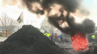 Les employés de la centrale à charbon de Gardanne (Bouche-du-Rhône) sont en grève (CAPTURE ECRAN FRANCE 2)