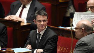 Le Premier ministre Manuel Valls, le 20 janvier 2016 à l'Assemblée nationale. (ERIC FEFERBERG / AFP)