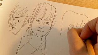 Visages de filles dessinés par Natacha Sicaud  (France 3 / Culturebox)