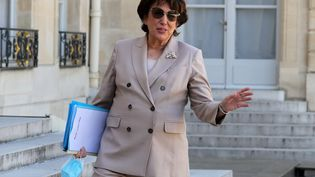 Roselyne Bachelot, ministre de la Culture, arrivant au premier Conseil des ministres après le remaniement, le 7 juillet 2020. (LUDOVIC MARIN / AFP)