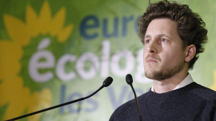 Julien Bayou, secrétaire national d'EELV, lors d'un congrès à Saint-Denis, le 30 novembre 2019 (photo d'illustration). (GEOFFROY VAN DER HASSELT / AFP)