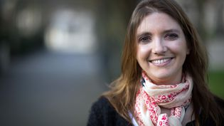 L'élue Les Républicains Aurore Bergé, lors des élections municipales de 2014 à Magny-les-Hameaux (Yvelines). (MARTIN BUREAU / AFP)