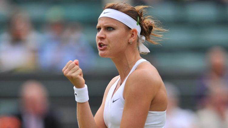 Lucie Safarov en demi-finale de Wimbledon (GLYN KIRK / AFP)