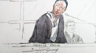 Fabienne Kabou devant la cour d'assises de Saint-Omer (Pas-de-Calais), le 20 juin 2016. (BENOIT PEYRUCQ / AFP)