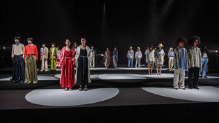 (Image d'illustration) Des mannequins sur scène pour la marque Hare pendant la Fashion Week printemps été 2021 de Tokyo en octobre 2020. (PHILIP FONG / AFP)