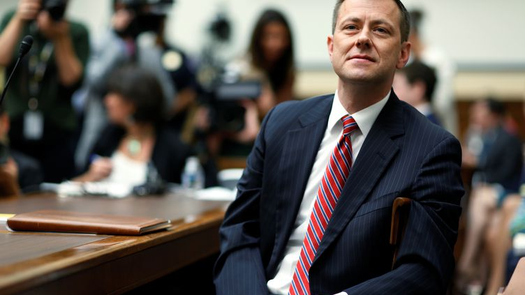 L'agent du FBI Peter Strzok lors d'une auditionà la Chambre des représentants américaine, à Washington, le 12 juillet 2018. (JOSHUA ROBERTS / REUTERS)
