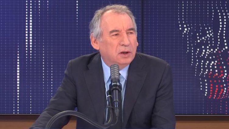 François Bayrou, haut-commissaire au Plan, et président du MoDem, sur franceinfo jeudi 25 février 2021. (FRANCEINFO / RADIOFRANCE)