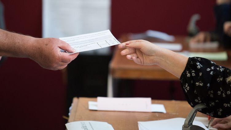 Dans un bureau de vote, à Dublin (Irlande), le 25 mai 2018. (BARRY CRONIN / AFP)