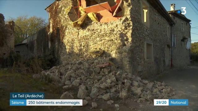 Plus de 200 bâtiments touchés par le séisme au Teil