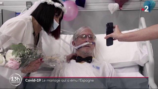 Covid-19 : un hôpital espagnol célèbre le mariage de deux patients