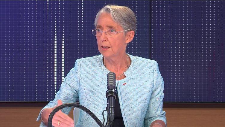 Elisabeth Borne, ministre du Travail, de l'Emploi et de l'Insertion, invitée de franceinfo le 12 mai 2021. (FRANCEINFO / RADIOFRANCE)