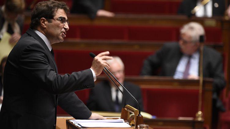 Christian Jacob, chef de file des députés de l'UMP à l'Assemblée nationale, le 17 février 2015 (MARTIN BUREAU / AFP)