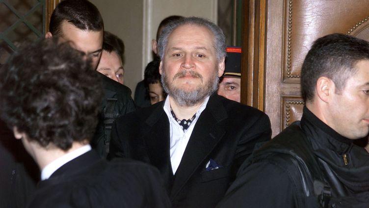 Le terroriste d'extrême gauche Carlos, le 7 mars 2001 lors de son procès en appel à Paris. (JACK GUEZ / AFP)