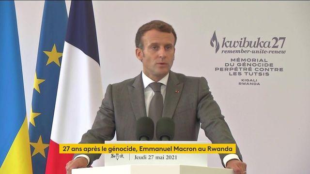 """VIDEO. Génocide rwandais : """"La France a un devoir, celui de regarder l'histoire en face"""", déclare Emmanuel Macron"""
