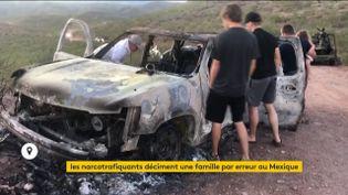 La voiture calcinée de membres de la communauté mormone au Mexique attaquée par des narcotrafiquants (FRANCEINFO)