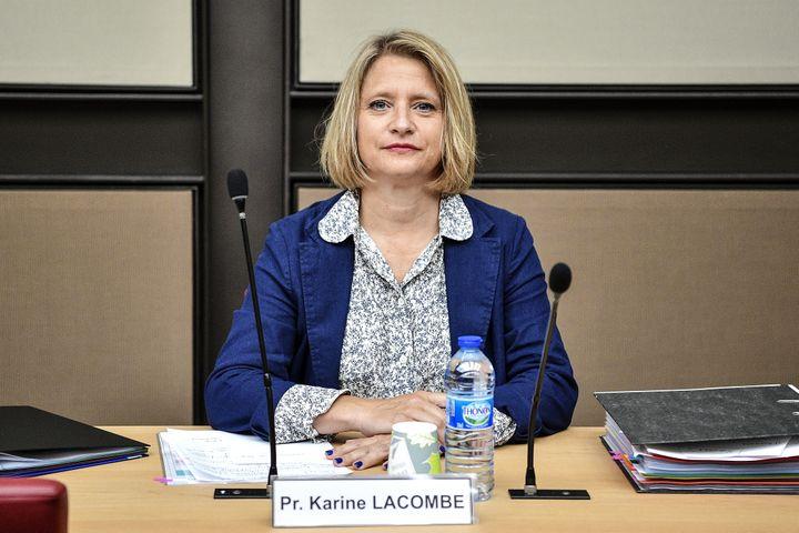 Karine Lacombe lors d'une audition à l'Assemblée nationale, le 25 juin 2020, à Paris. (CHRISTOPHE ARCHAMBAULT / AFP)