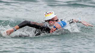 Marc-Antoine Olivier espère monter sur un nouveau podium olympique lors du 10 km en eau libre des Jeux olympiques de Tokyo. (FERENC ISZA / AFP)