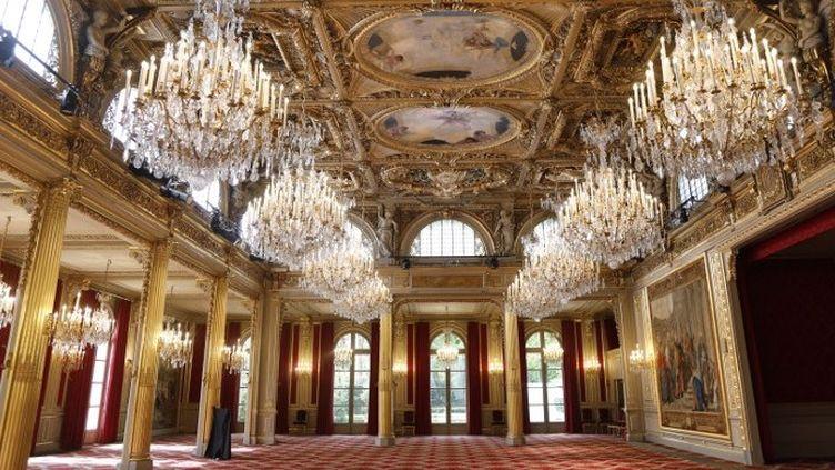 La salle des fêtes de l'Elysée  (CHARLES PLATIAU / POOL / AFP)