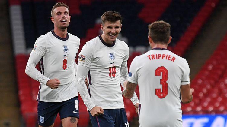La joie des Anglais après le but de Mason Mount. (NEIL HALL / POOL)