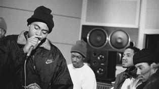 "Nas en studio à l'époque de ""Illmatic"" (1994)  (Columbia)"