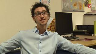 Mathieu Koehler, président des jeunes solidarité cancer. ( FRANCE 2)