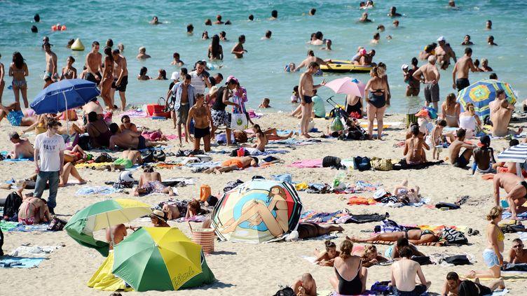 Bain de soleil sur une plage de Marseille (Bouches-du-Rhône), le 16 août 2012. (GERARD JULIEN / AFP)