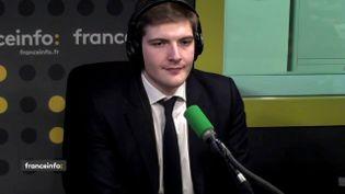 Robin Reda, député LR de l'Essonne, invité de franceinfo le mardi 23 janvier. (FRANCEINFO / RADIOFRANCE)