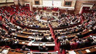 Le Premier ministre, Manuel Valls, répond aux questions des députés après son discours de politique générale, à l'Assemblée nationale, mardi 8 avril 2014. (  MAXPPP)