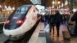 Grève dans les transports à la gare du Nord à Paris, le 10 janvier 2020. (GILLES ROLLE/REA)