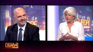 """Pierre Moscovici, invité du magazine """"Avenue de l'Europe"""". (FRANCE 3 / FRANCETV INFO)"""