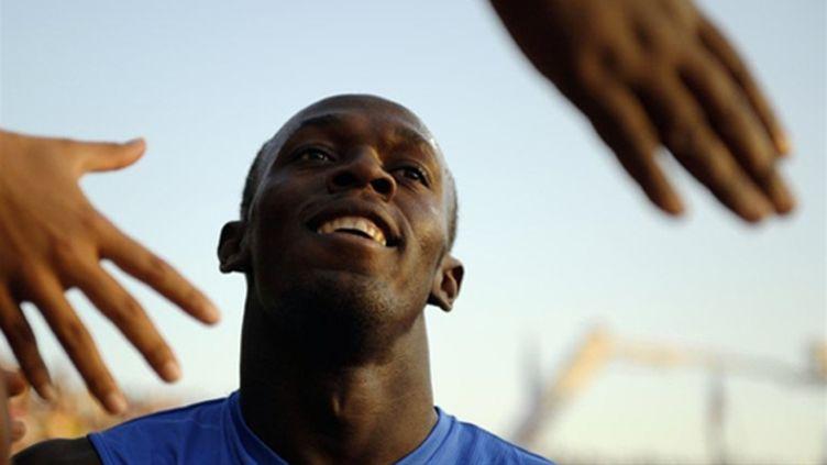 Le Jamaïcain Usain Bolt est toujours aussi populaire (FABRICE COFFRINI / AFP)