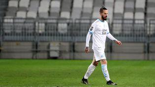 Dario Benedetto lors du match nul entre Bordeaux et Marseille, le 14 février 2021. (ROMAIN PERROCHEAU / AFP)