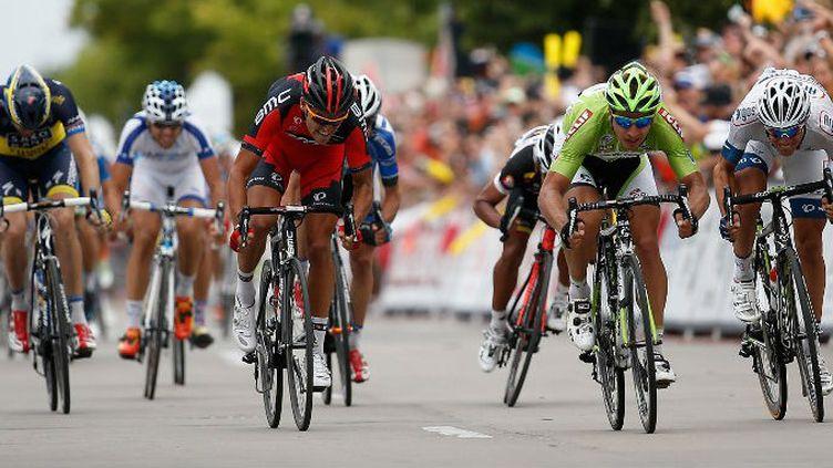 Peter Sagan (Cannondale) est aussi très rapide au sprint