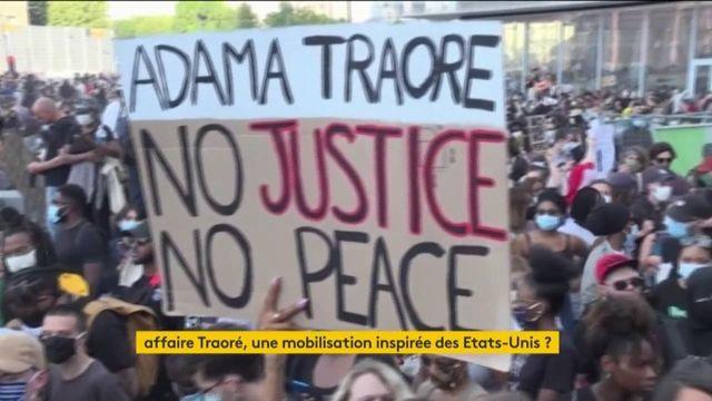 Adama Traoré : une impressionnante manifestation contre les violences policières en France