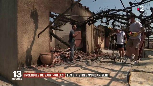 Gard : les sinistrés des incendies de Saint-Gilles s'organisent