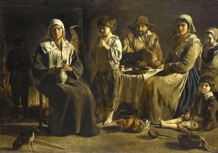 """Louis Le Nain, """"Famille de paysans"""", vers 1642, Paris, musée du Louvre  (© RMN-Grand Palais (musée du Louvre) / Jean-Gilles Berizzi)"""