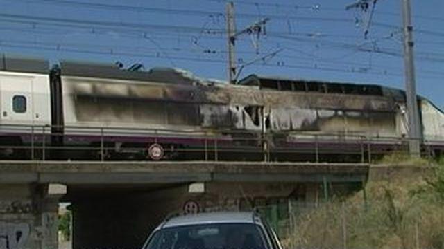 Hérault : la locomotive d'un TGV espagnol prend feu