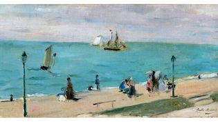 "Berthe Morisot, ""La plage des Petites-Dalles"", vers 1873, Richmond, Virginia Museum of Fine Arts, Collection of Mr and Mrs Paul Mellon  (Virginia Museum of Fine Arts / Katherine Wetzel)"